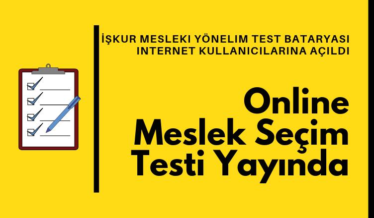 Meslek Seçim Testi Mesleki Yönelim Test Bataryası