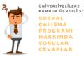 Sosyal Çalışma Programı başvuru 2019