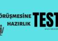 İŞ GÖRÜŞMESİNE HAZIRLIK TESTİ